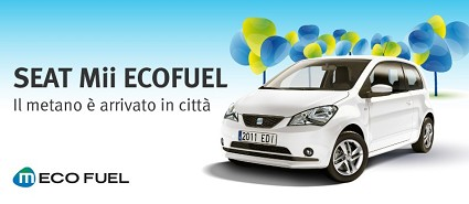 Nuova Seat Mii Ecofuel a metano 2013: prezzo e consumi