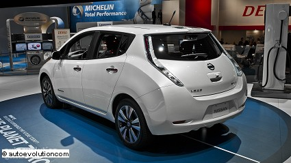 Nuova Nissan Leaf 2014: ricarica batterie velooce