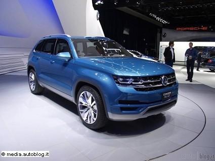 Volkswagen Midsize Suv: prime foto e caratteristiche tecniche