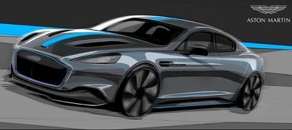 Aston Martin prima 100% elettrica Rapide E 800 Volt: debutto nel 2019. Come sarà?