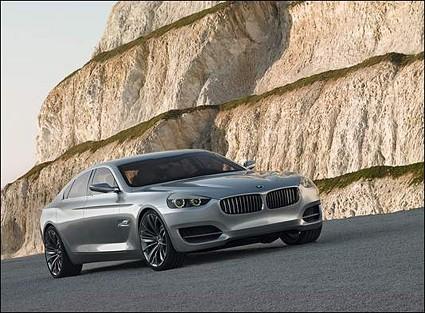 BMW CS Concept: berlina lunga pi?? di 5 metri slanciata come una coup??. Sar?á il nuovo top di gamma?